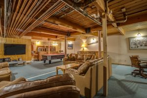 game room in 12-bedroom private home on Peak 7 in Breckenridge