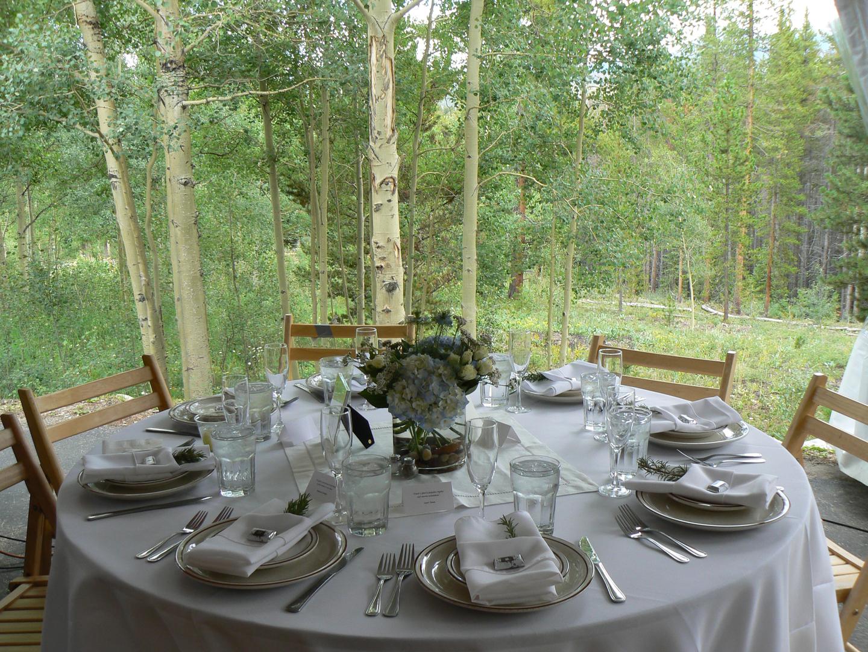 wedding reception venue at High Country Lodge in Breckenridge
