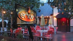 patio at Ember in Breckenridge